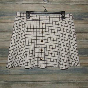 Candie's plaid mini  skirt with buttons